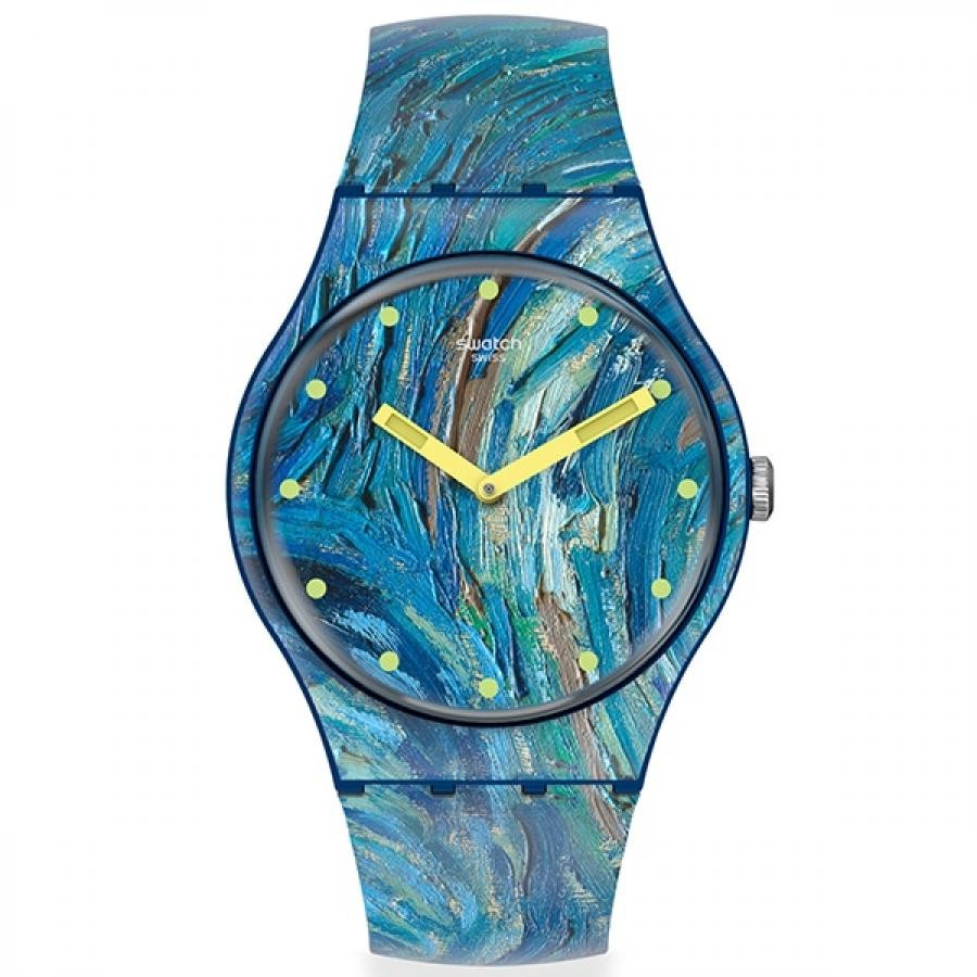 【SWATCH】ニュージェント SUOZ335 THE STARRY NIGHT BY VINCENT VAN GOGH Swatch×MoMA コラボレーション 専用パッケージ