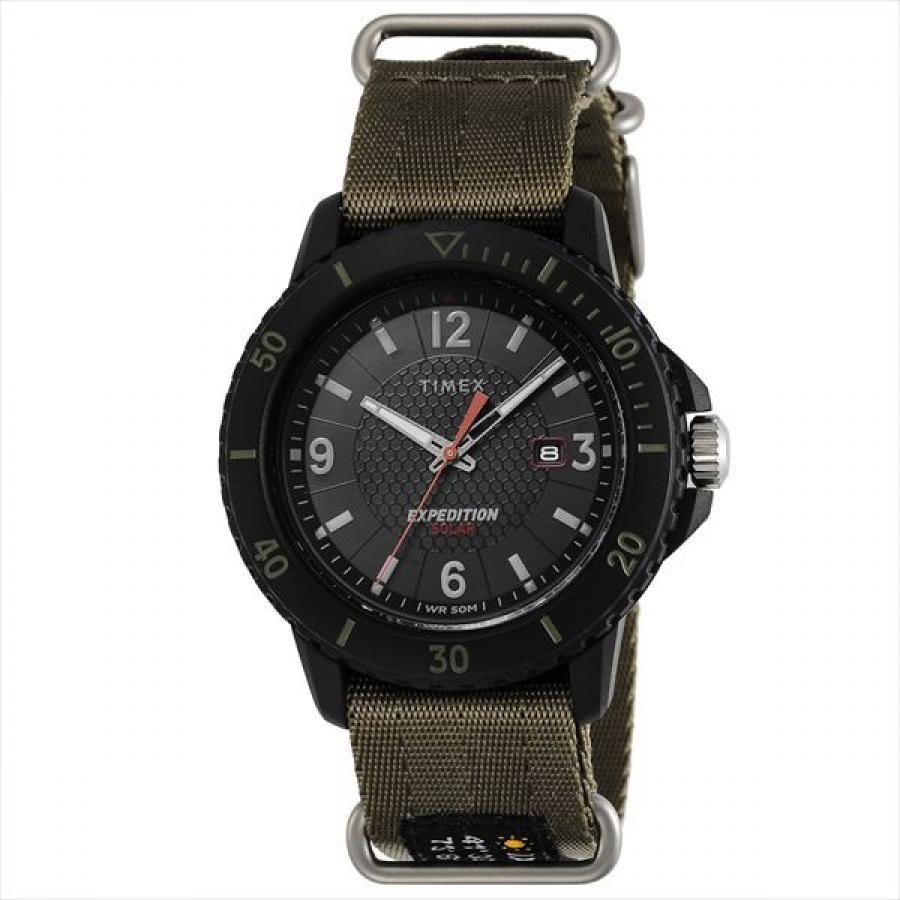 【TIMEX】Expedition  TW4B14500 ガラティンソーラー ファブリックストラップ メンズ