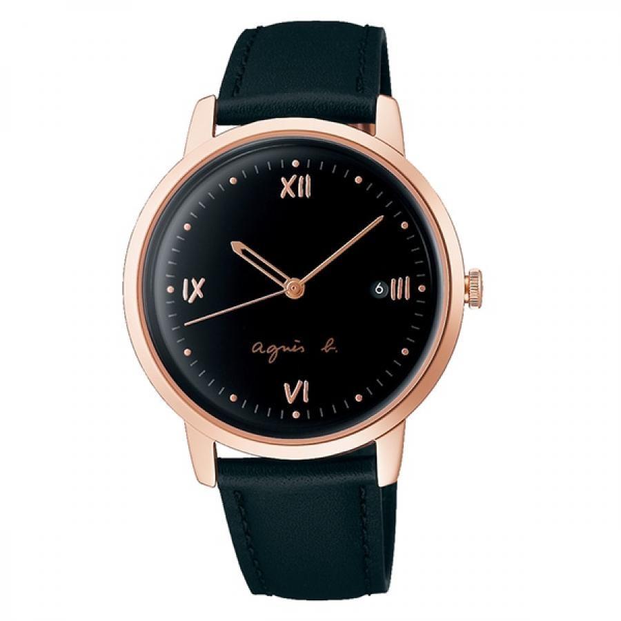 agnes b. アニエスベー SEIKO セイコー Marcello マルチェロ FCRK982 ブラック×ピンクゴールド メンズ 腕時計