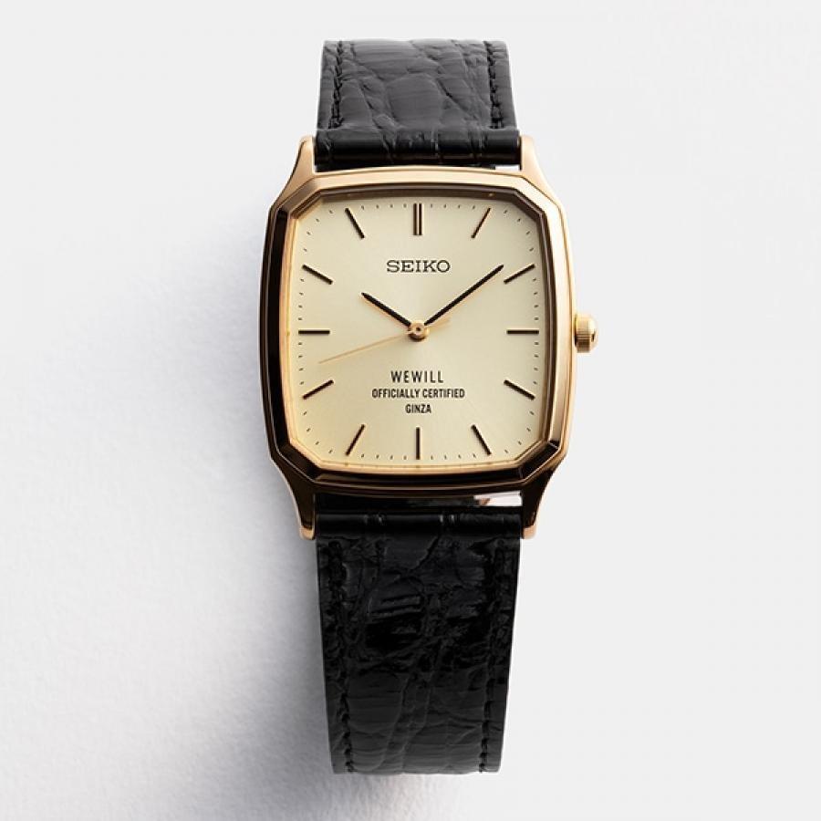SEIKO×WEWILL セイコー×ウィーウィル SZLJ196 数量限定モデル スクエア クォーツ 腕時計 メンズ