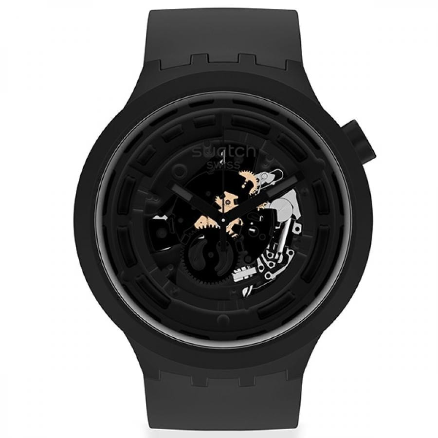 【SWATCH】BIG BOLD バイオセラミック SB03B100 C-BLACK ユニセックス