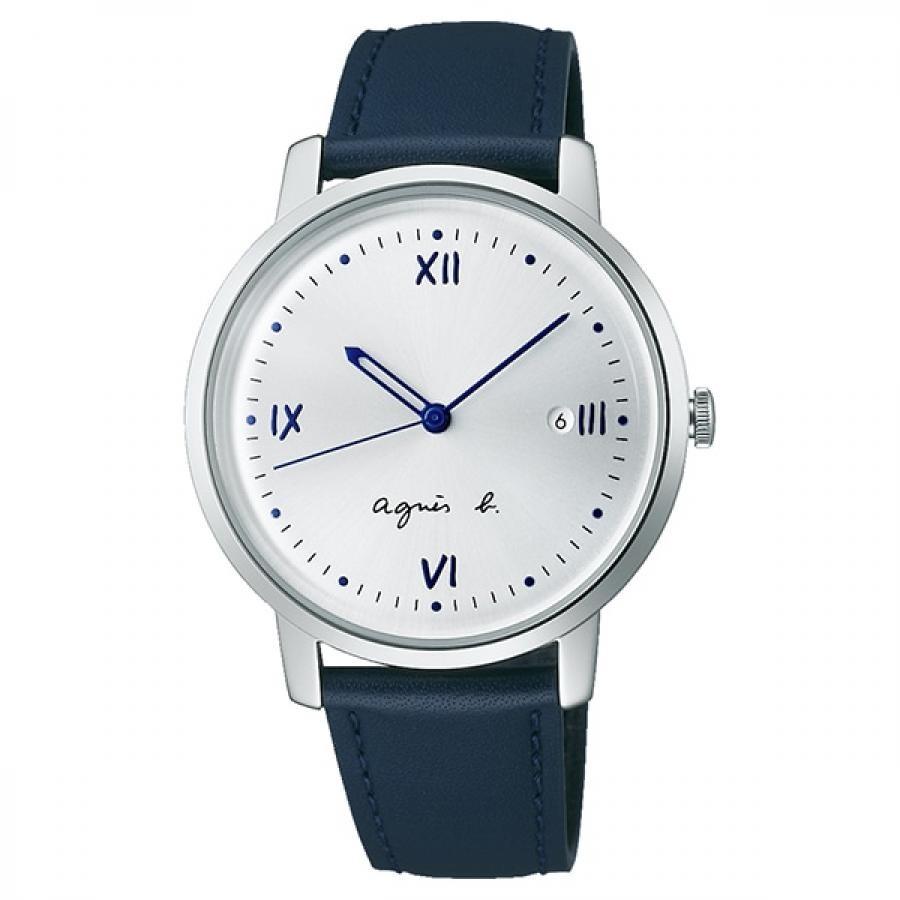 agnes b. アニエスベー SEIKO セイコー Marcello マルチェロ FCRK983 シルバー×ネイビー メンズ 腕時計