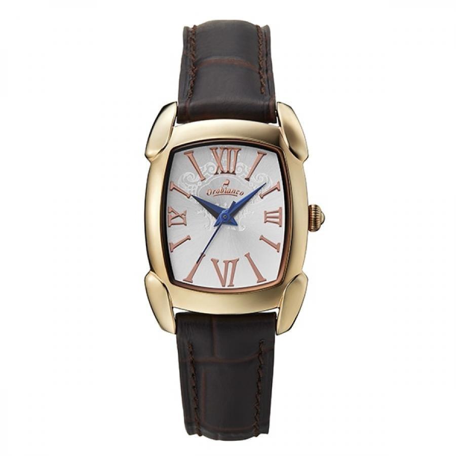 Orobianco オロビアンコ RETTANGOLINA レッタンゴリーナ OR0081-TC1 TiCTAC別注モデル ダークブラウン×ホワイト ペアウォッチ 腕時計 レディース