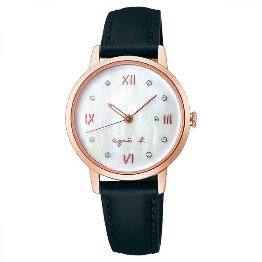 agnes b. アニエスベー SEIKO セイコー Marcello マルチェロ FCSK913 ホワイト×ブラック レディース 腕時計