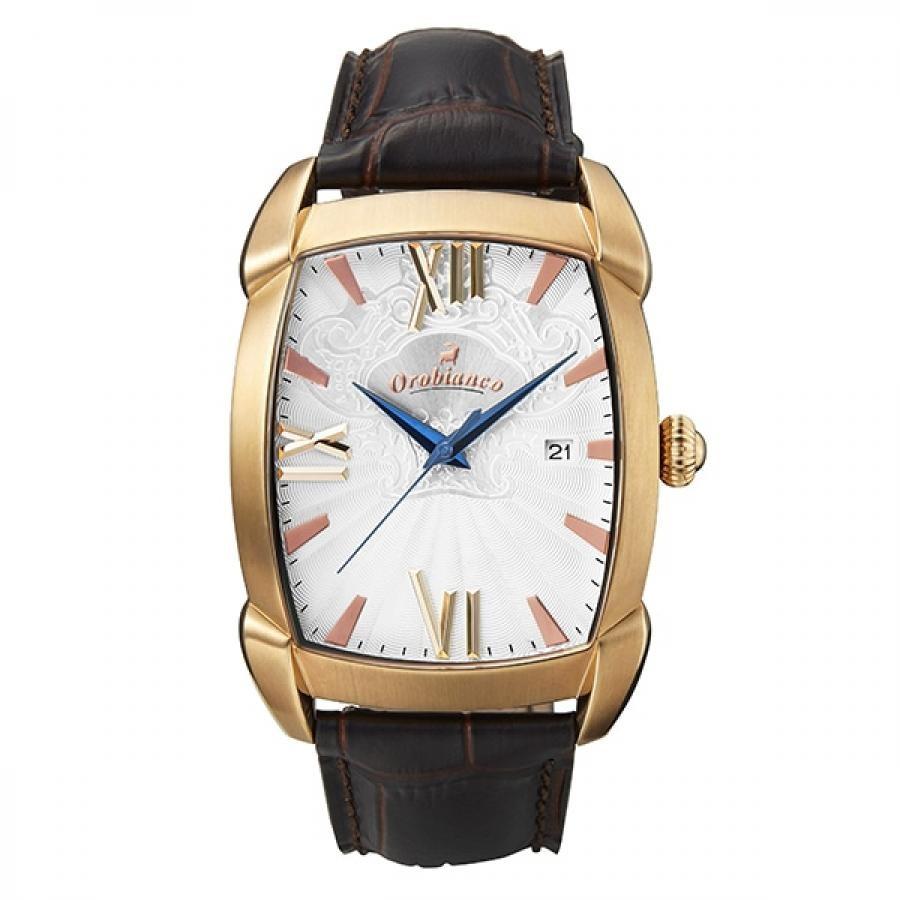 Orobianco オロビアンコ RETTANGORA レッタンゴラ OR0079-TC1 TiCTAC別注モデル ダークブラウン×ホワイト ペアウォッチ 腕時計 メンズ