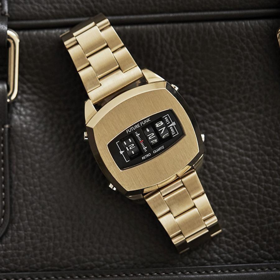 FUTURE FUNK フューチャーファンク アナログデジタル 腕時計 FF101-YG-MT