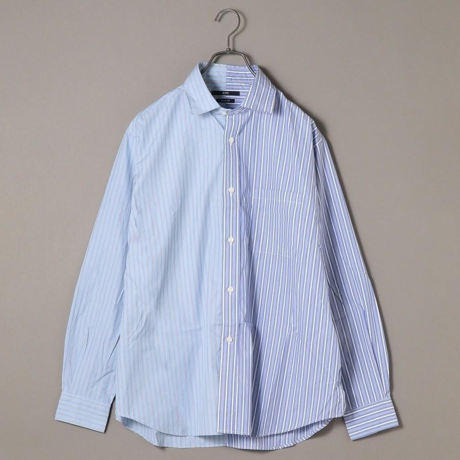 SU: ビッグシルエット クレイジーパターン ストライプ シャツ