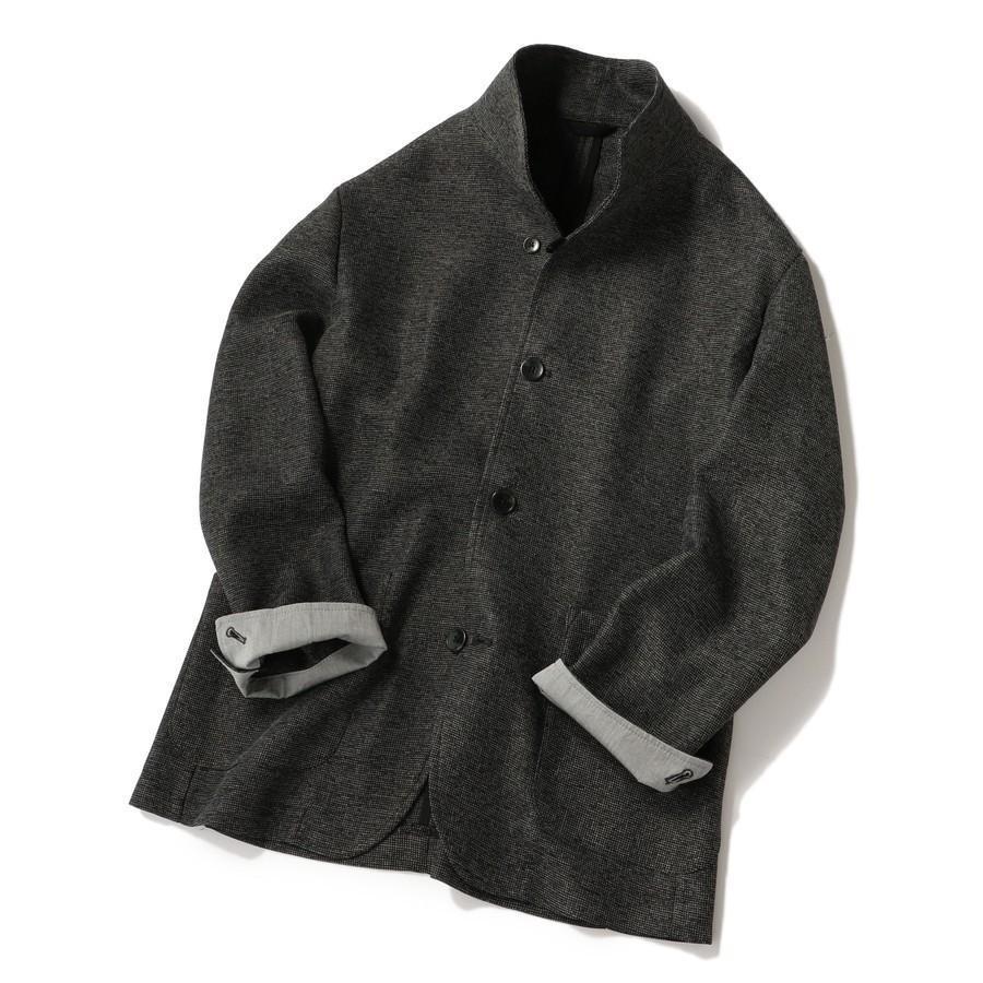 SU: カラミ スタンドカラー ジャケット