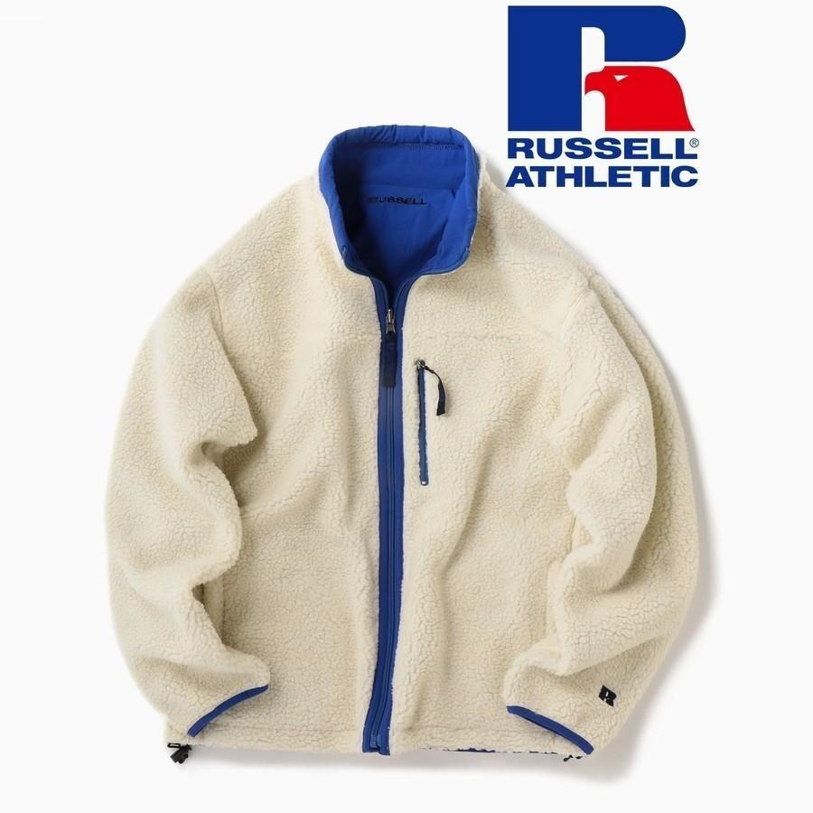 RUSSELL ATHLETIC×SHIPS: リバーシブル ボアフリース ブルゾン