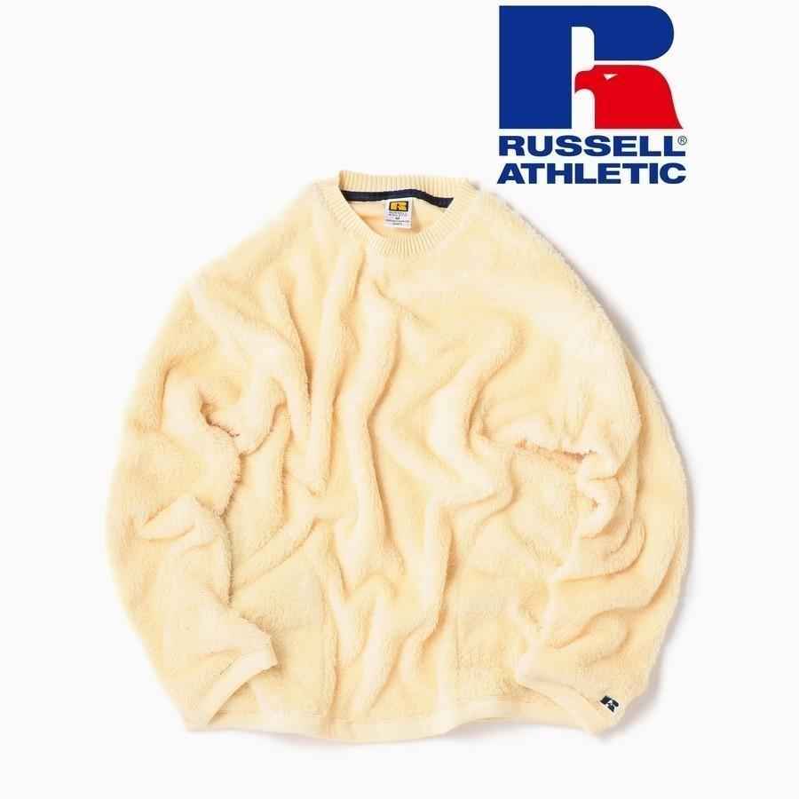 RUSSELL ATHLETIC×SHIPS: 別注 ダブルフェイス ボア フリース ポケット プルオーバー