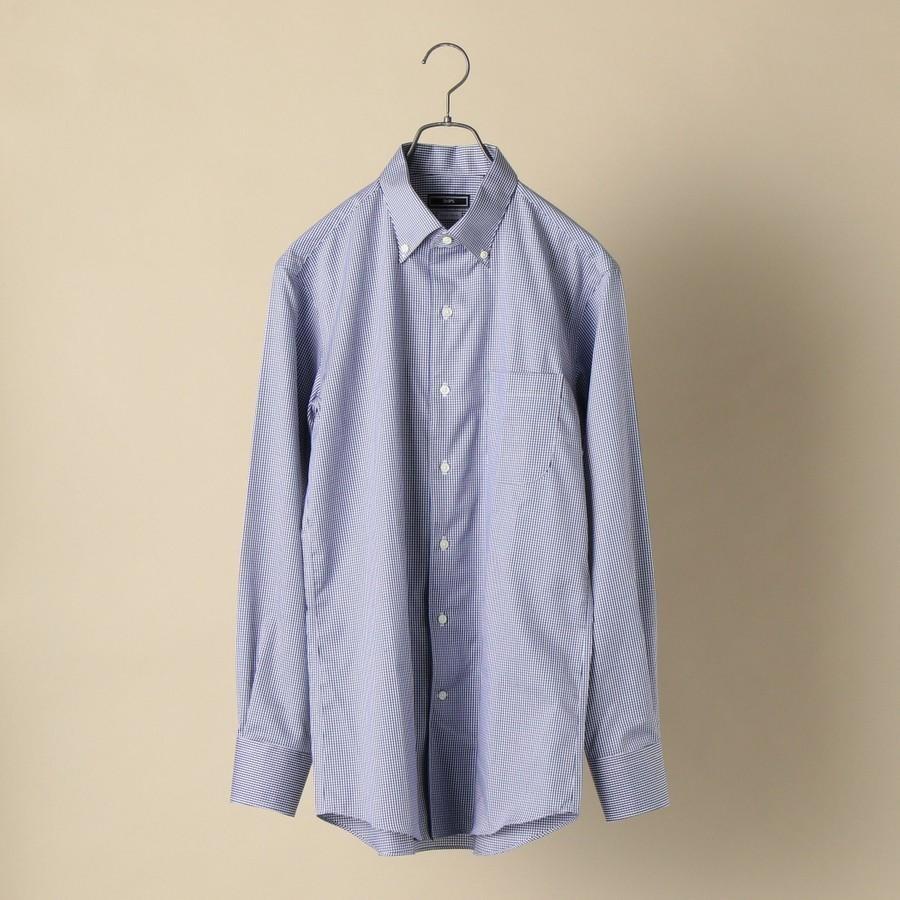 SHIPS:イージーアイロン ギンガムチェック イタリアンボタンダウン シャツ