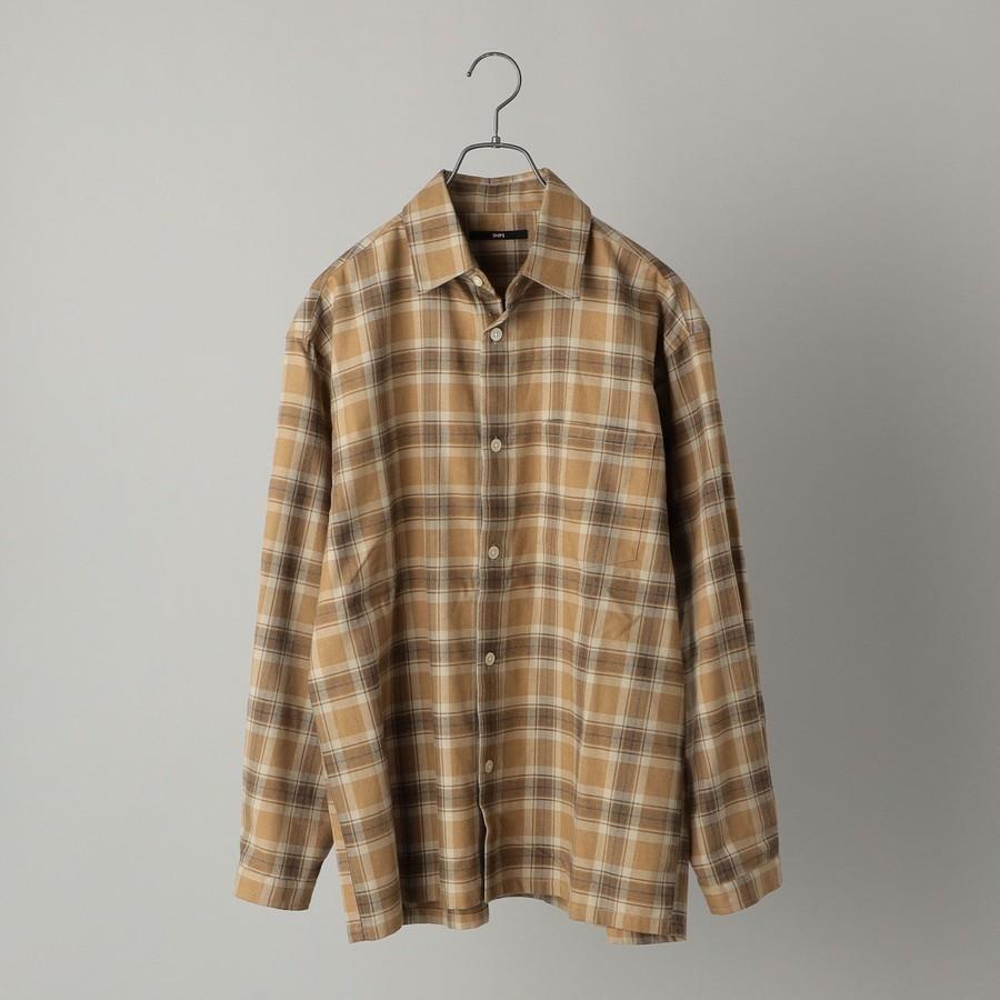 SHIPS: japan quality リラックスフィット チェック レギュラーカラー ネルシャツ