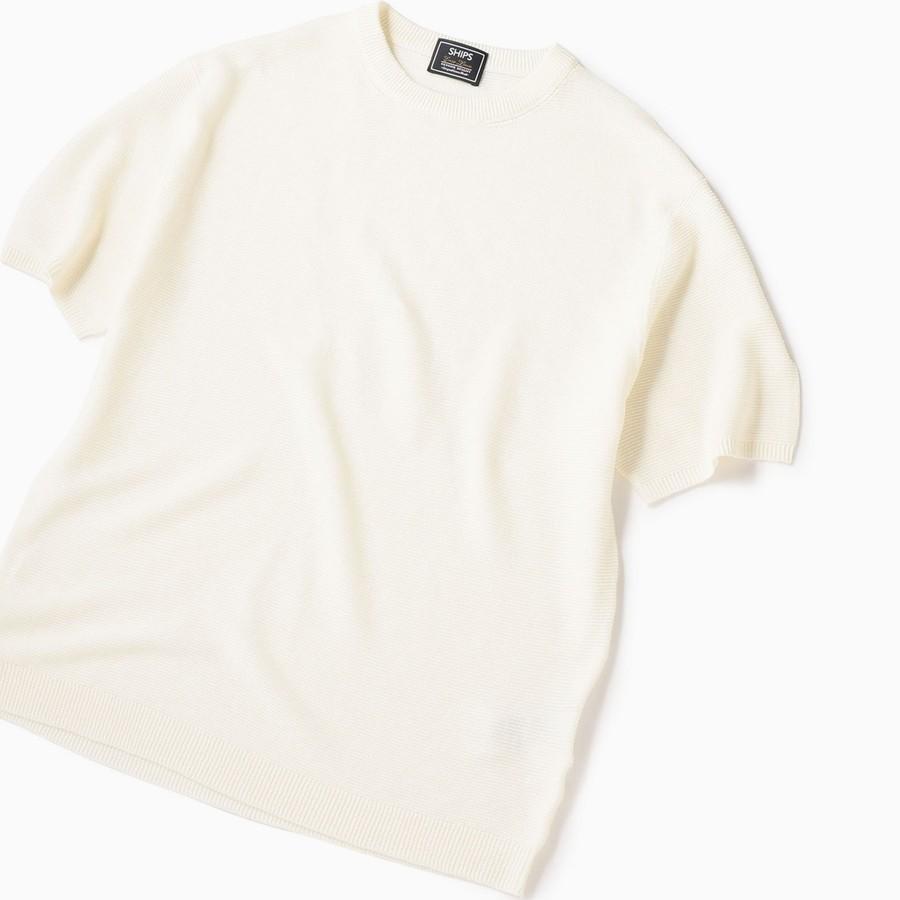 SC: ユーロリネン/コットン ニット Tシャツ