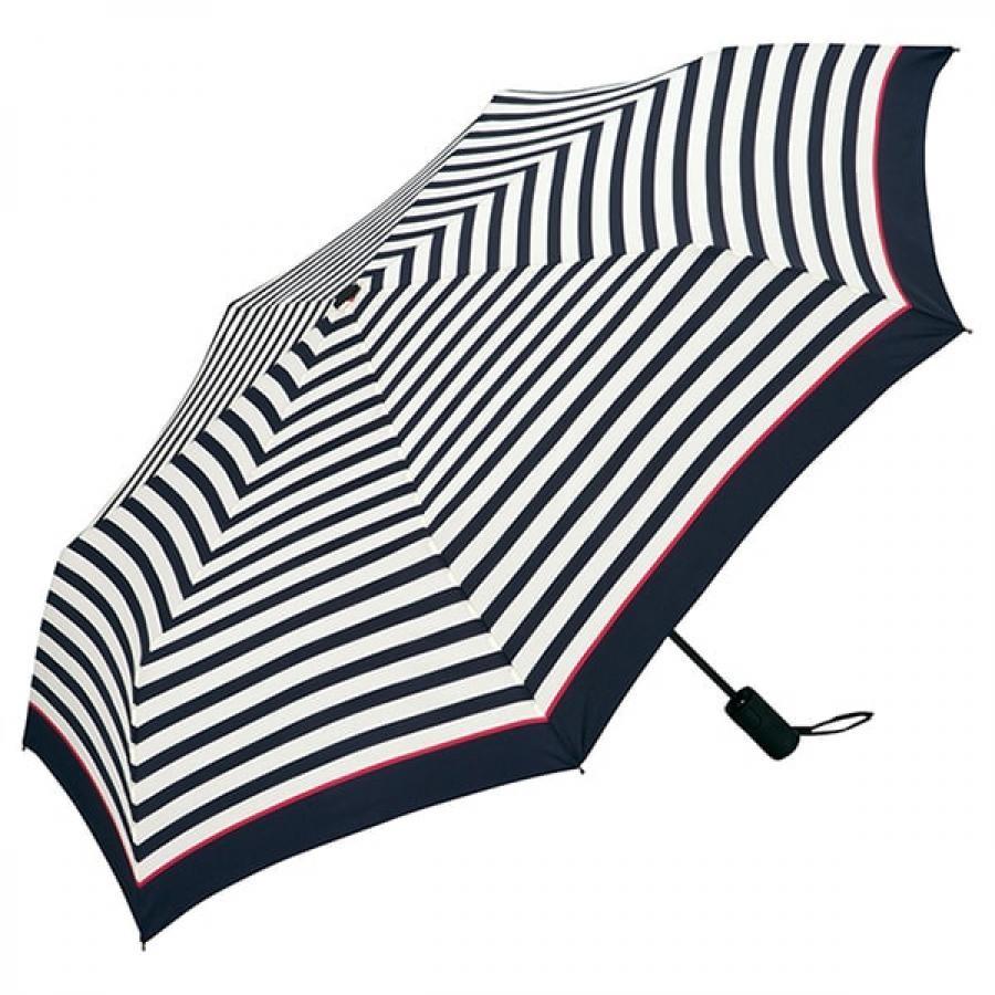 Wpc. ダブルピーシー ASC folding umbrella エーエスシーフォールディングアンブレラ 自動開閉折りたたみ傘 PINK LINE BORDER MINI ピンク ライン ボーダー ミニ MSJ-038