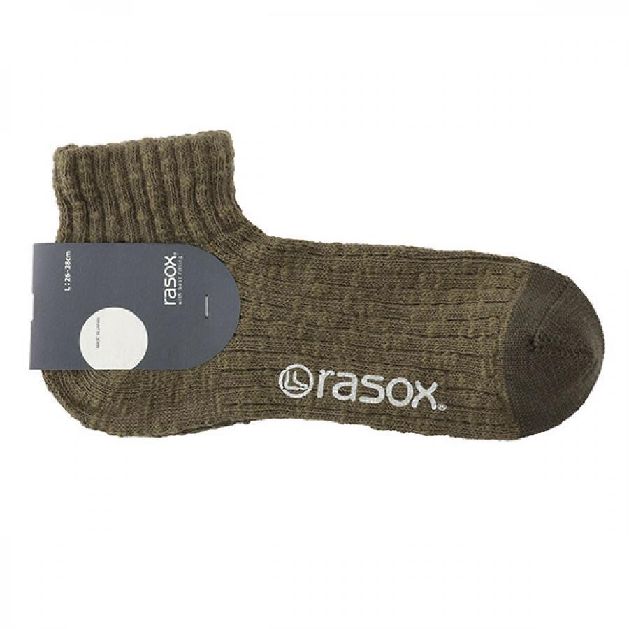 Rasox ラソックス ビックスラブ・アンクル ソックス グリーン CA181AN02