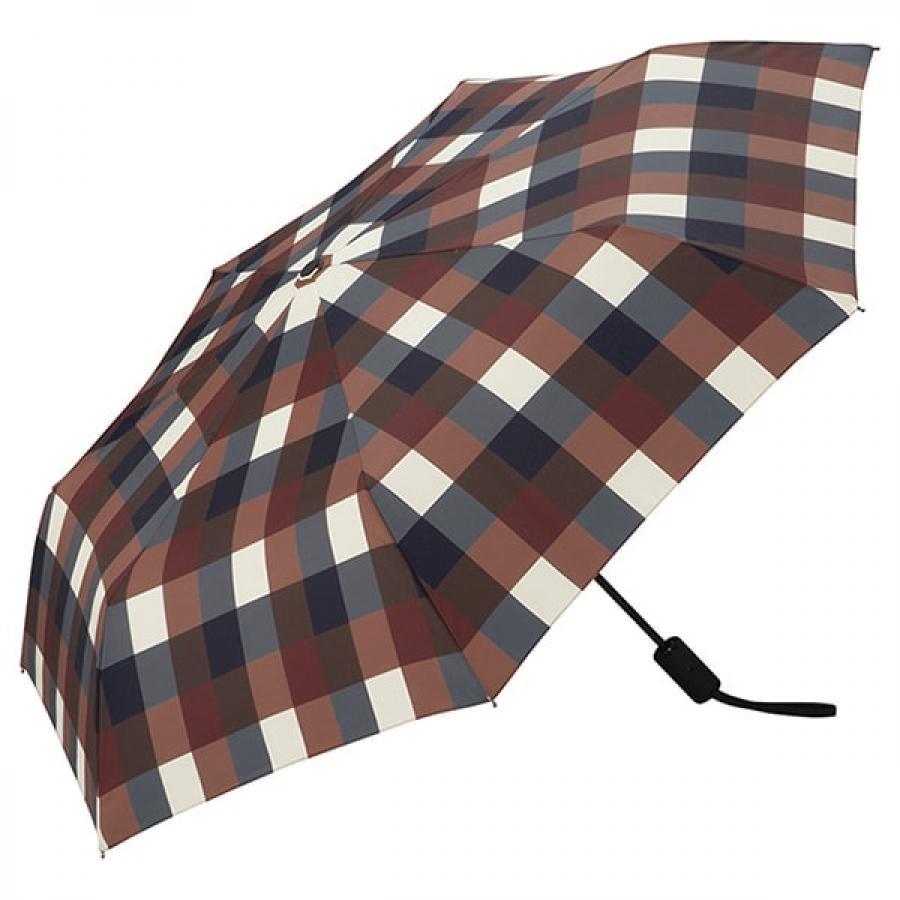 Wpc. ダブルピーシー ASC folding umbrella エーエスシーフォールディングアンブレラ 自動開閉折りたたみ傘 WINE CHECK MINI ワイン チェック ミニ MSJ-064