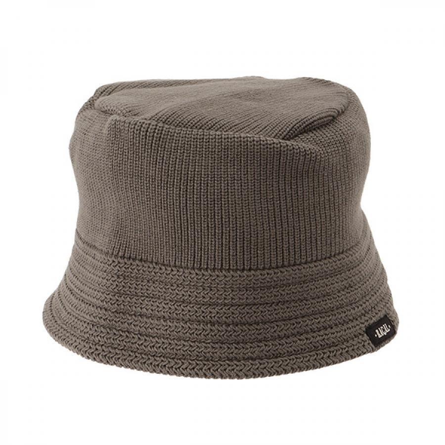 【RACAL】 Cotton Knit Bucket Hat 2 コットンニット バケットハット2 グレー RL-21-1169