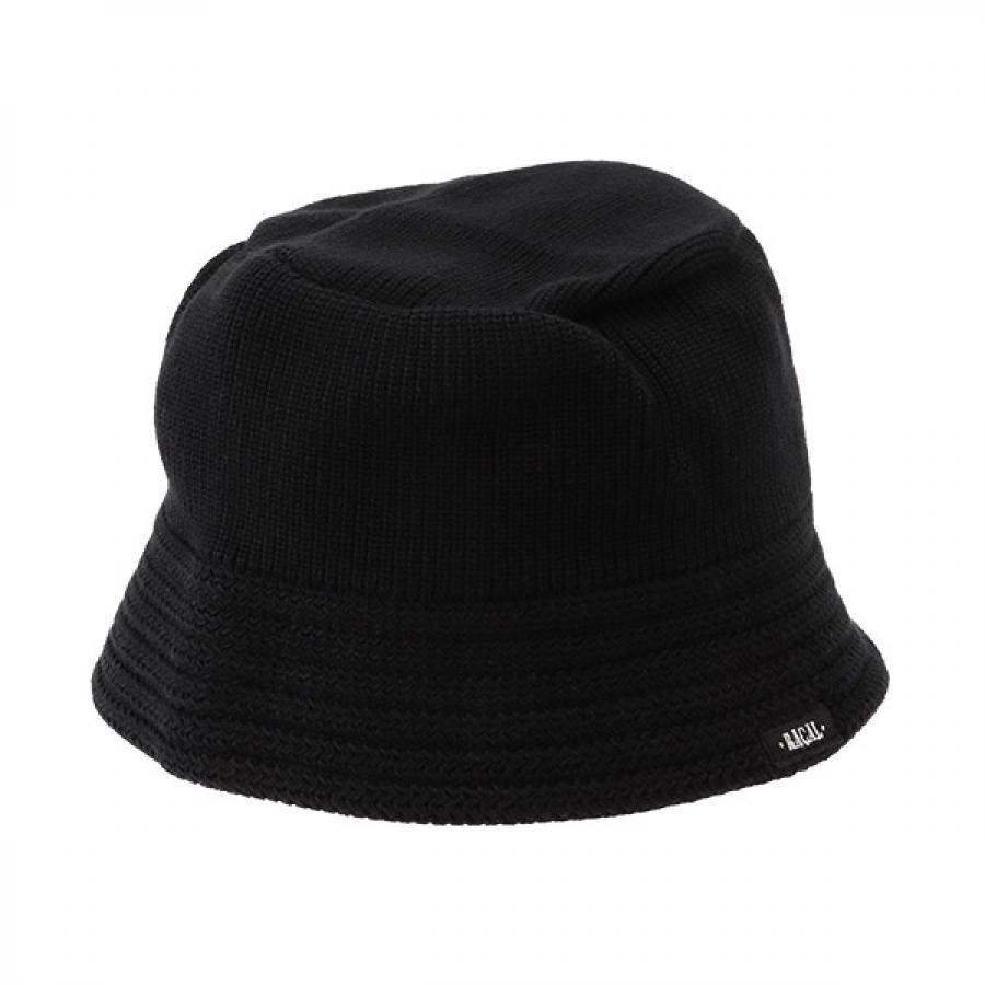【RACAL】 Cotton Knit Bucket Hat 2 コットンニット バケットハット2 ブラック RL-21-1169