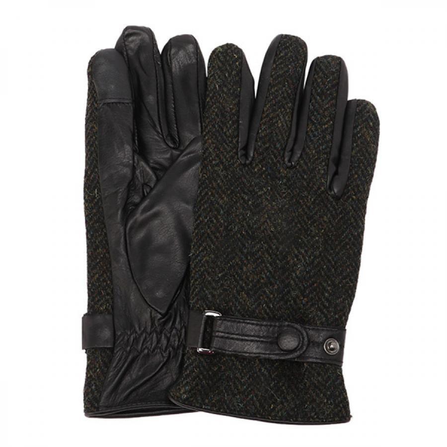 EIGHT BEES エイトビーズ レザー × ハリスツイード 革包み 手袋 グローブ KHH MSGL-088