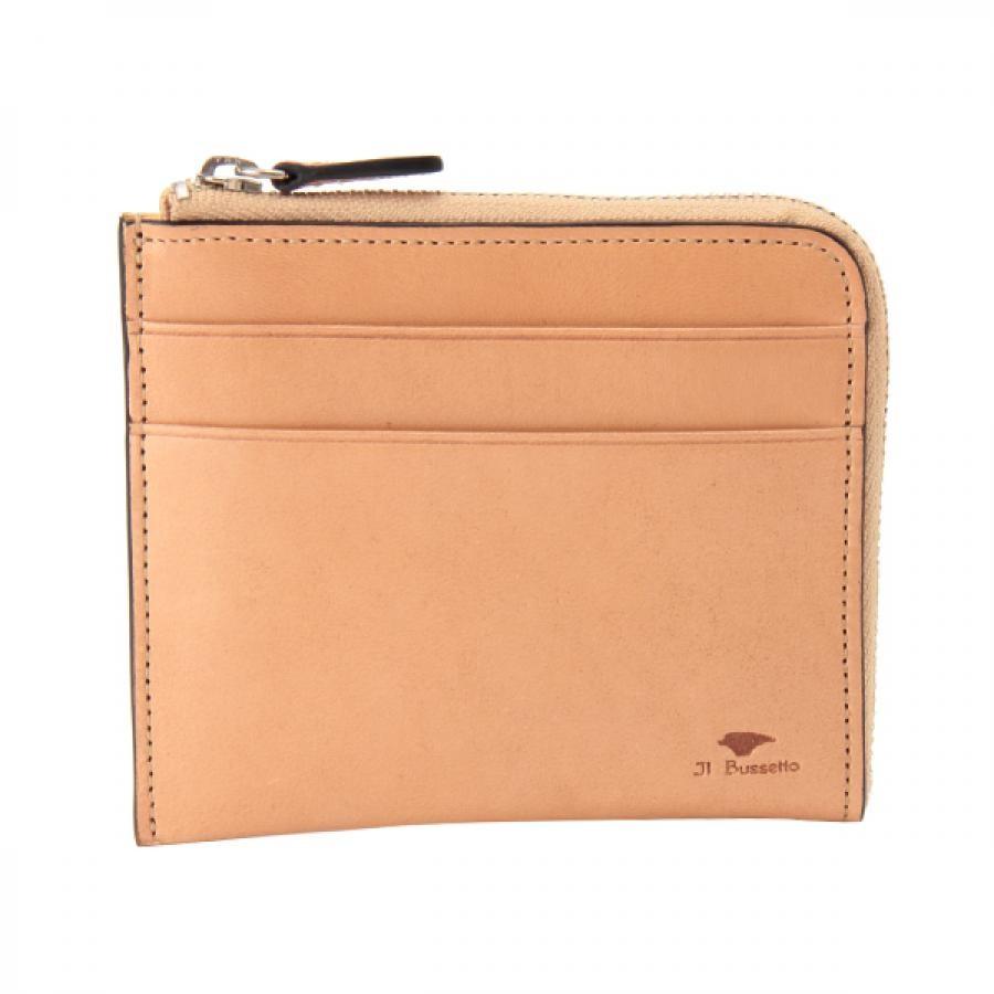 Il Bussetto イル・ブセット L字型ジップ財布 ナチュラル 7815165NA