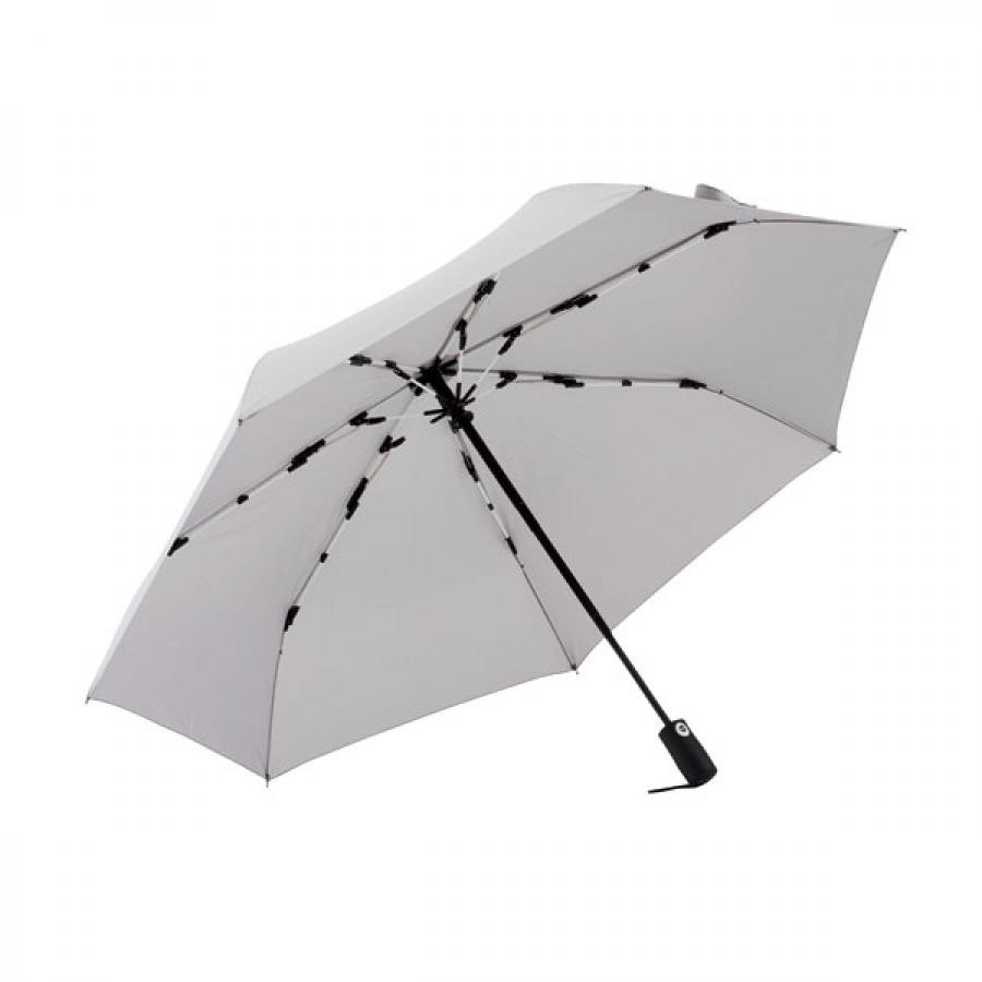 【mabu】 高強度折りたたみ傘 自動開閉 ストレングスミニAUTO plus ライトグレー SMV-4106