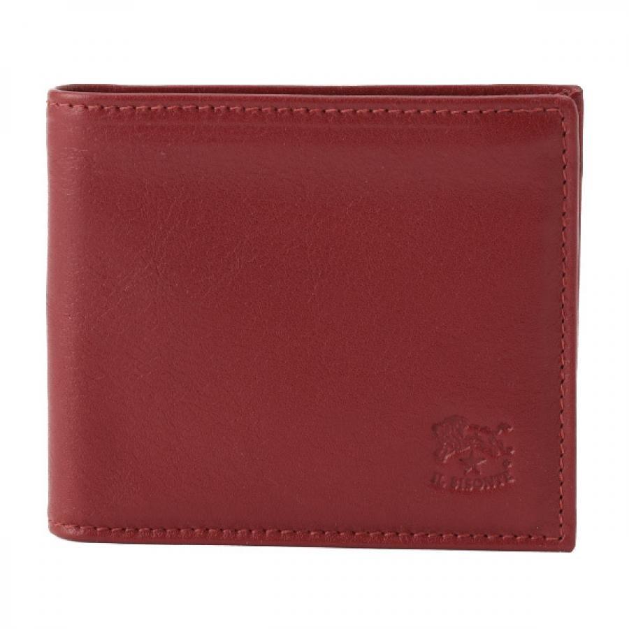 IL BISONTE イルビゾンテ 二つ折り 財布 ルビー レッド C0817 P