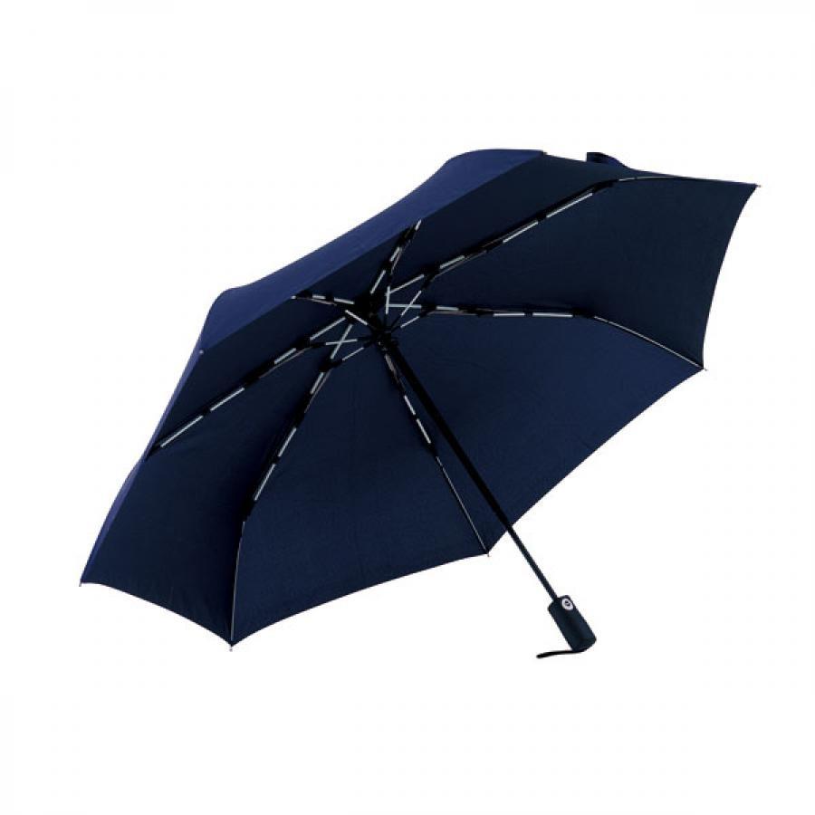 【mabu】 高強度折りたたみ傘 自動開閉 ストレングスミニAUTO plus ミッドナイトブルー SMV-4106