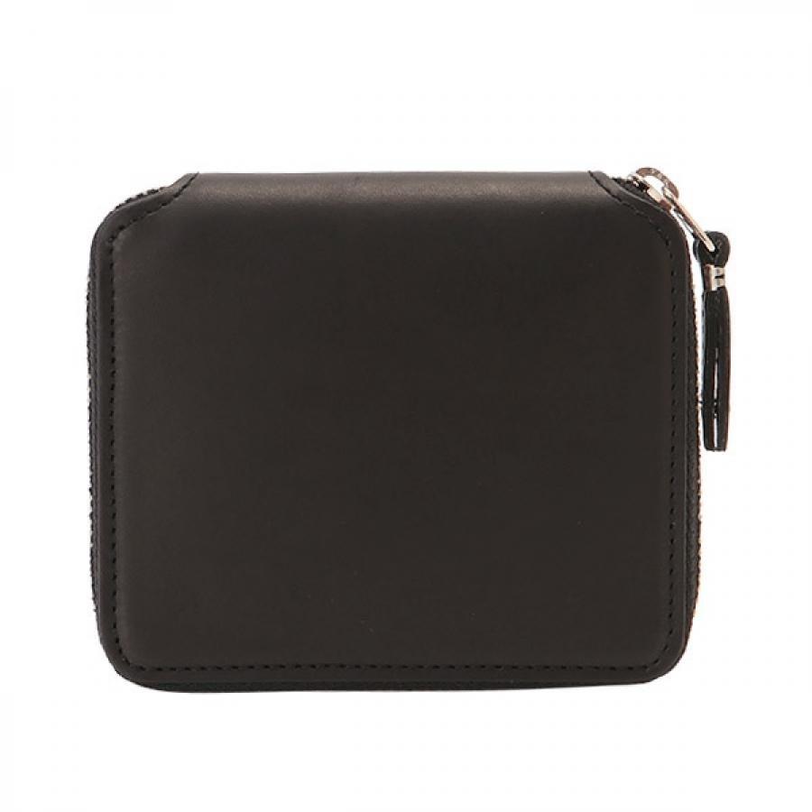 SLOW スロウ vegetal べジタル  -round wallet- ラウンドジップ二つ折り 財布 ブラック 333S88J