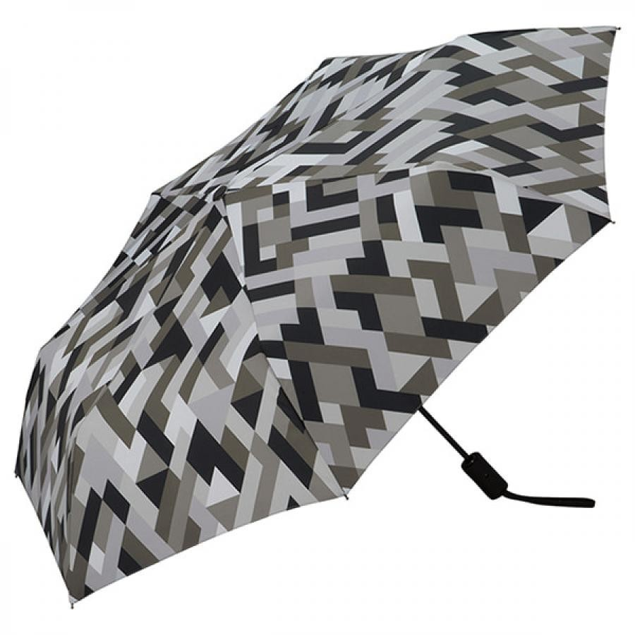 Wpc. ダブルピーシー ASC folding umbrella エーエスシーフォールディングアンブレラ 自動開閉折りたたみ傘 GEOMETRY GRAY MINI ジオメトリー グレー MSJ-056