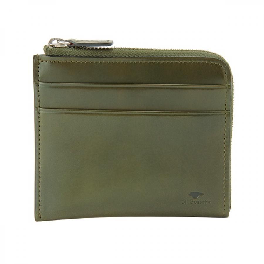Il Bussetto イル・ブセット L字型ジップ財布 グリーン 7815163GR