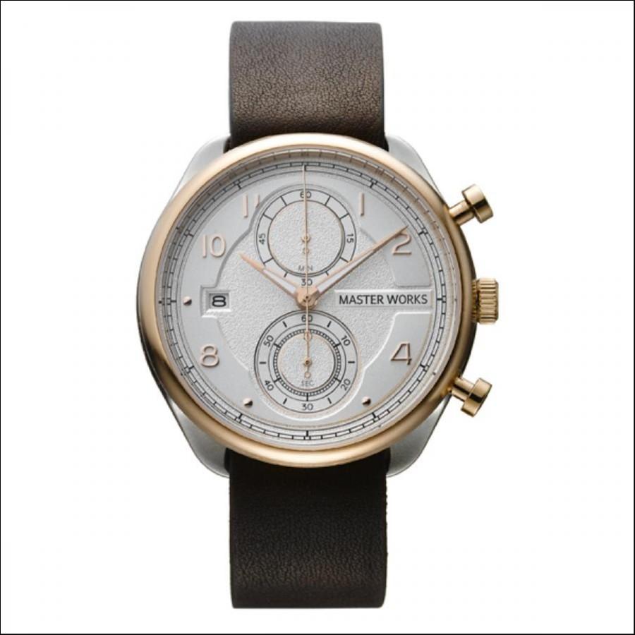 MASTER WORKS マスターワークス Quattro 002 クアトロ クロノグラフ 腕時計 メンズ MW07SRS-EDDBO8