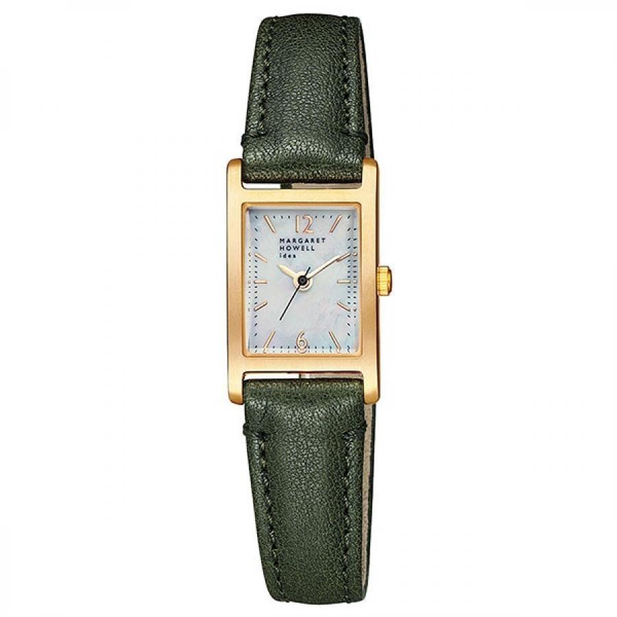 MARGARET HOWELL idea マーガレット・ハウエル アイデア 25周年記念モデル BG2-825-90 レクタンギュラー カーキ 腕時計 レディース
