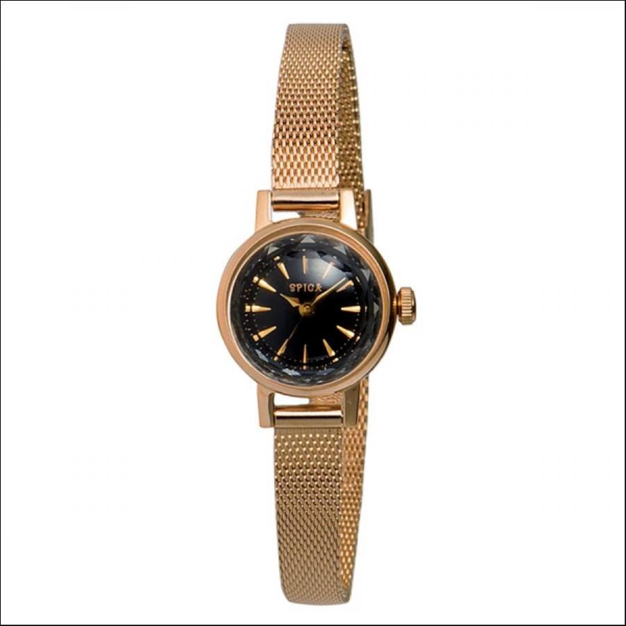 SPICA スピカ カットガラス ピンクゴールド 腕時計 SPI03-PGD/BK_A