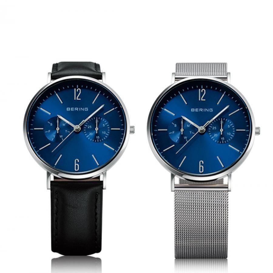 BERING ベーリング Changes Leather & Mesh  TiCTAC別注モデル 替えベルト付き 腕時計 レディス 14236-407