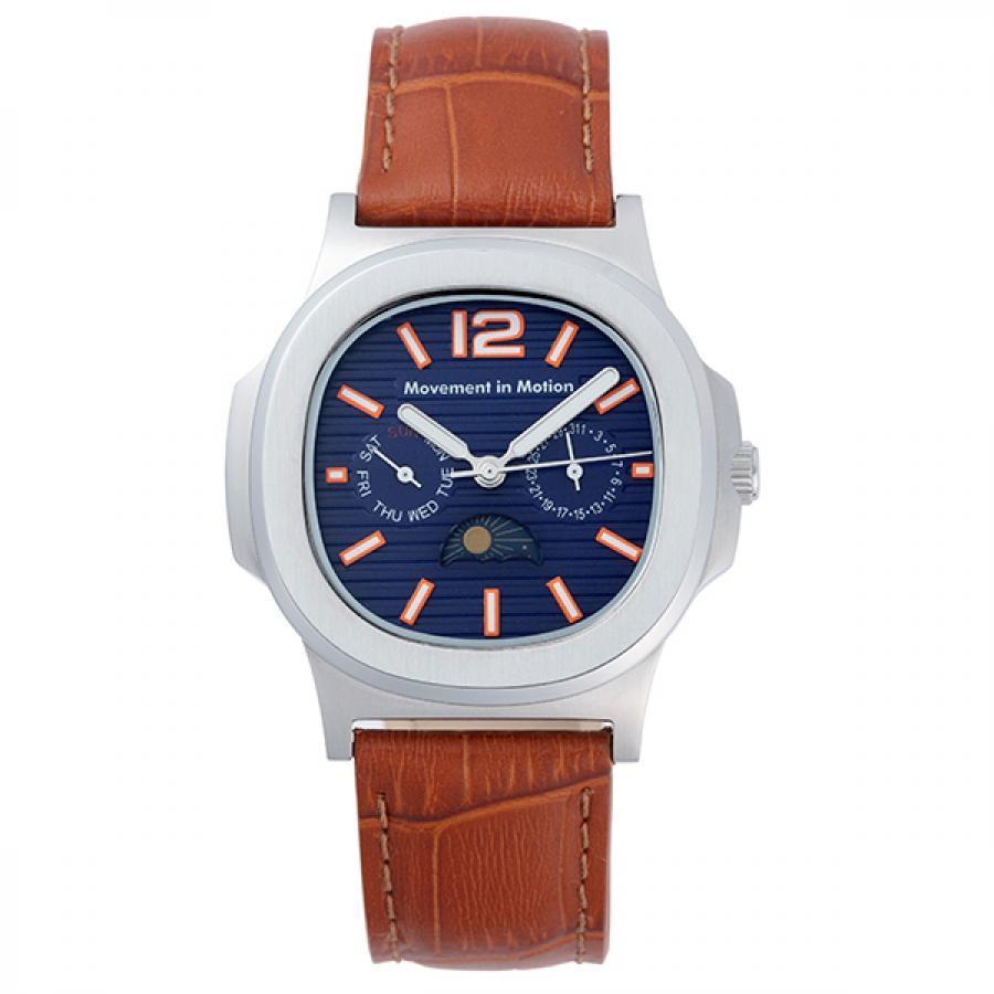 ムーブメント イン モーション クッションケース クラシックデザイン TiCTACオリジナル 腕時計 メンズ MIM-MF03-SS/BR