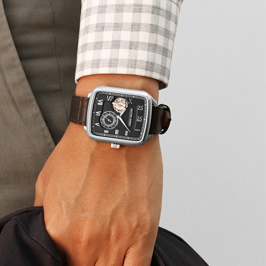 MASTERWORKS マスターワークス 腕時計   アニバーサリーモデル TiCTAC限定 クアドラングル001 MW09SB-GCBRO8