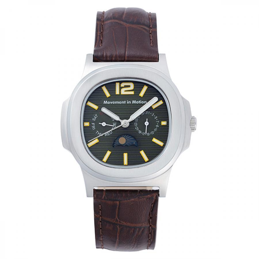 ムーブメント イン モーション クッションケース クラシックデザイン TiCTACオリジナル 腕時計 メンズ MIM-MF03-SS/GR