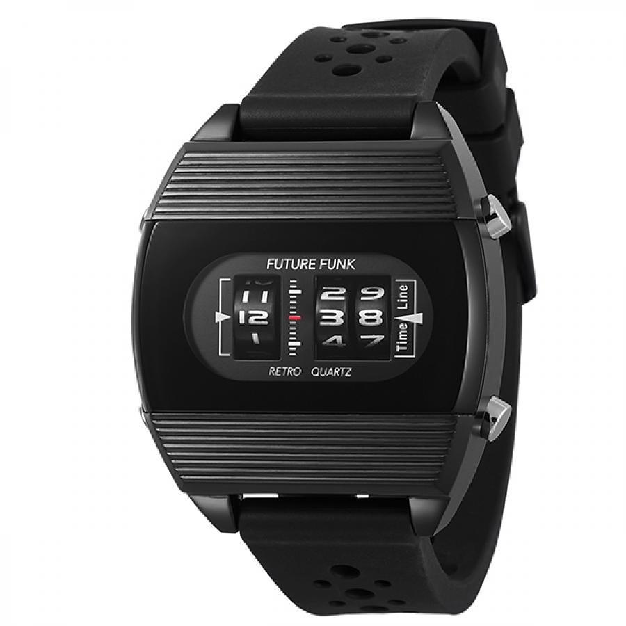 FUTURE FUNK フューチャーファンク アナログデジタル 腕時計 FF104-BK-RB