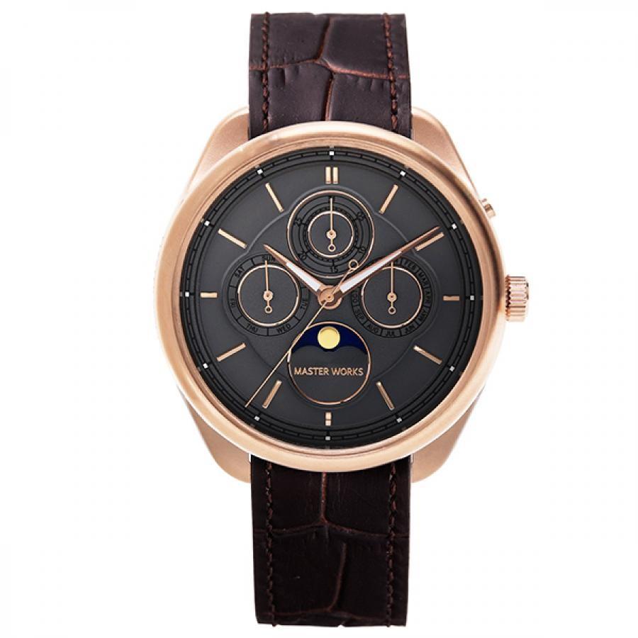 MASTER WORKS マスターワークス 腕時計 TiCTAC別注モデル Quattro 004 クアトロ ムーンフェイズ MW21AR1-GCBRO81