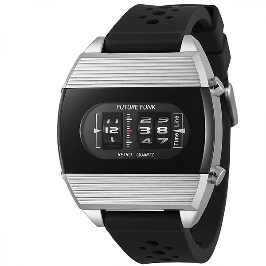 FUTURE FUNK フューチャーファンク アナログデジタル 腕時計 FF104-SV-RB