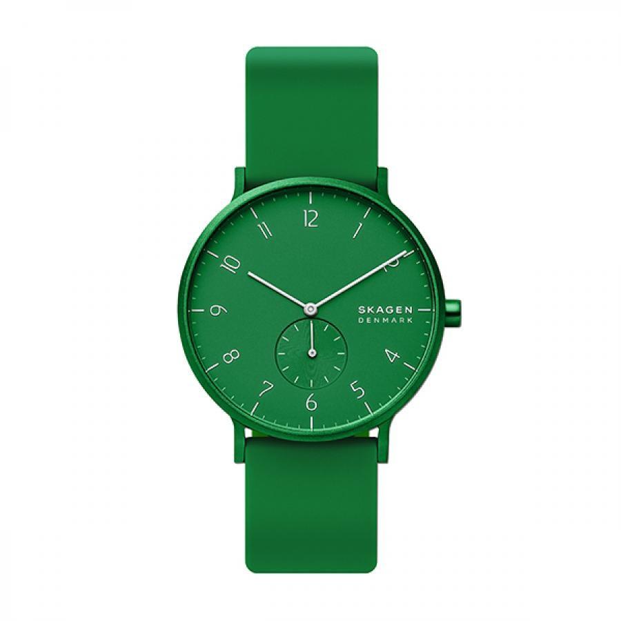 SKAGEN スカーゲン 腕時計 Aaren Kulor アーレン41mm グリーンシリコン メンズ  SKW6545