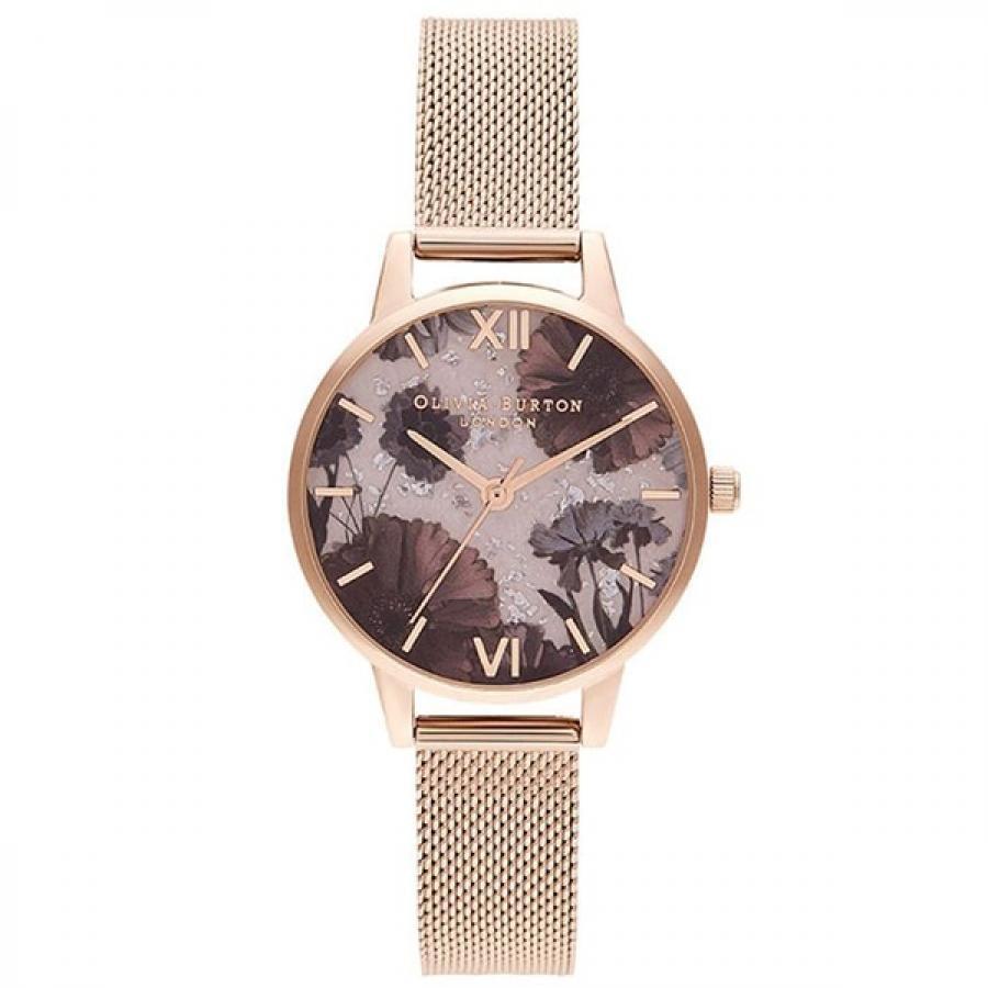【SALE!!】OLIVIA BURTON オリビアバートン セレスティアル ローズクォーツ & パール ローズゴールド 腕時計 レディース OB16SP21