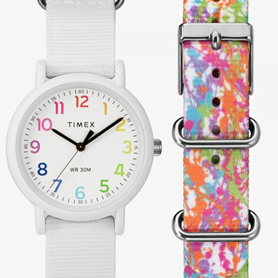 TIMEX タイメックス Weekender ウィークエンダーカラーラッシュベルト付き レディス 【国内正規品】 腕時計 TWG018200