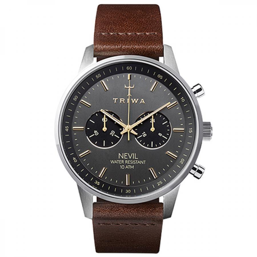 TRIWA トリワ 腕時計 NEVIL SMOKY  DARK BROWN CLASSIC   NEST114-CL010412