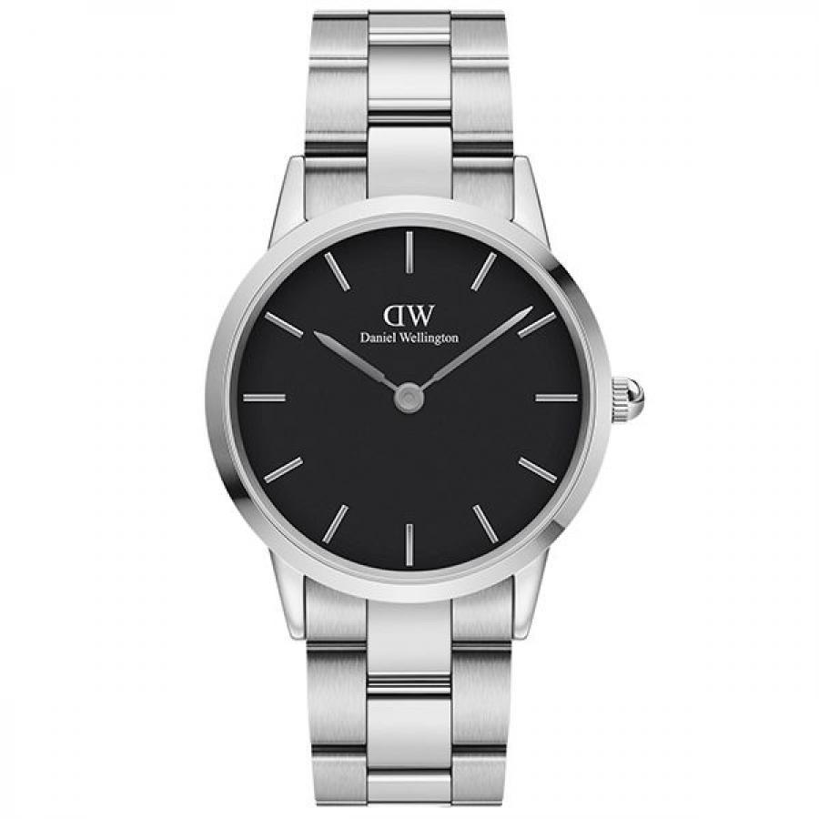 Daniel Wellington ダニエル・ウェリントン ICONIC LINK 36mm Silver Black 腕時計 DW00100204