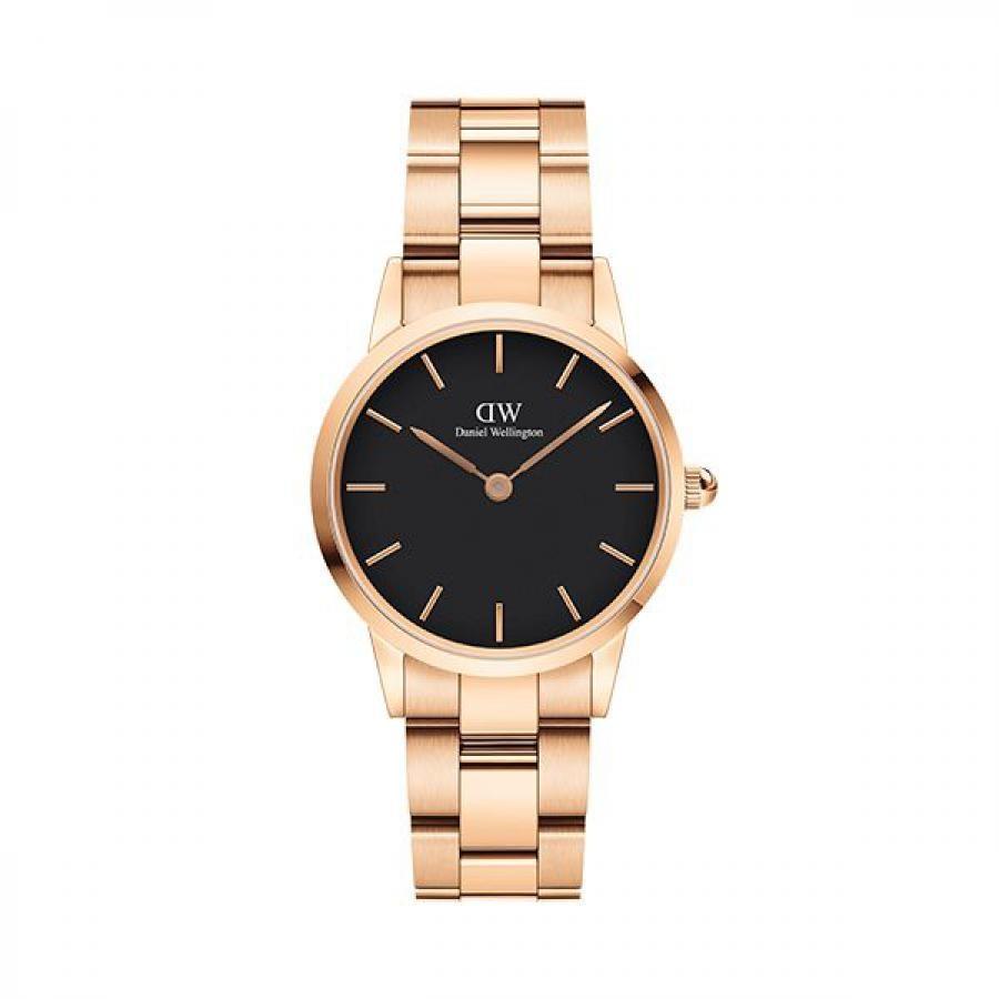Daniel Wellington ダニエル・ウェリントン ICONIC LINK 28mm Rose Gold Black 腕時計 レディース DW00100214