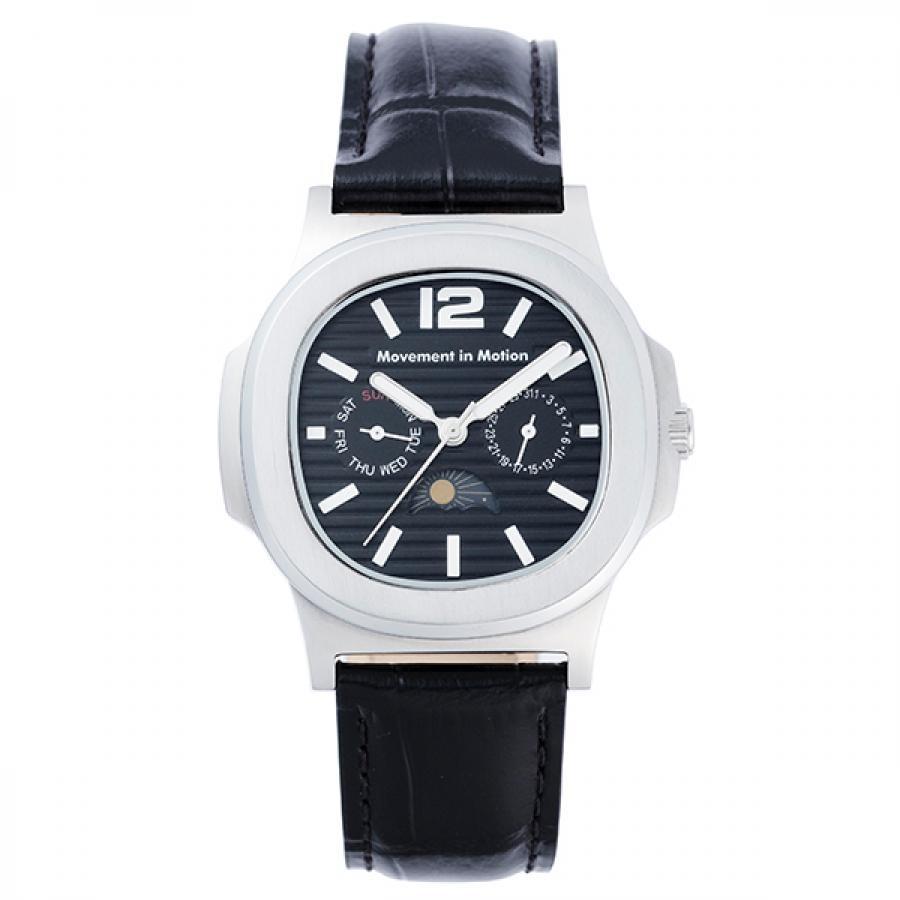 ムーブメント イン モーション クッションケース クラシックデザイン TiCTACオリジナル 腕時計 メンズ MIM-MF03-SS/BK