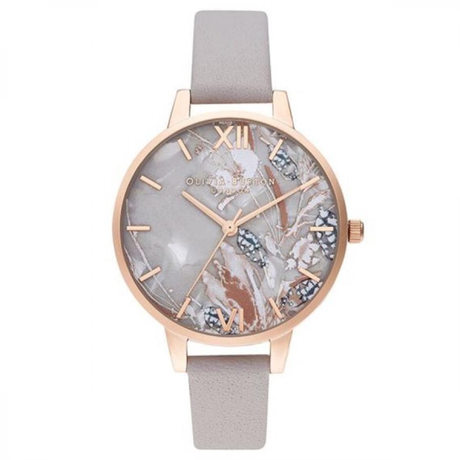【SALE!!】OLIVIA BURTON オリビアバートン アブストラクトフローラル グレイライラック & パール ローズゴールド 腕時計 レディース OB16VM37