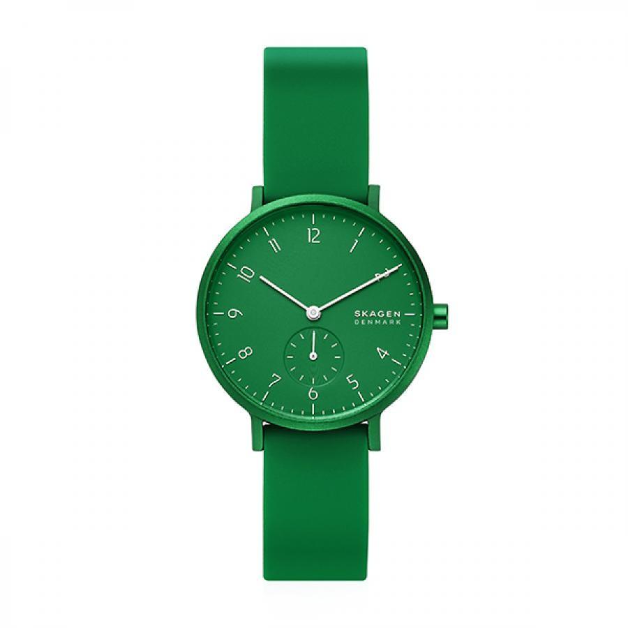 SKAGEN スカーゲン 腕時計 Aaren Kulor アーレン36mm グリーンシリコン レディス  SKW2804