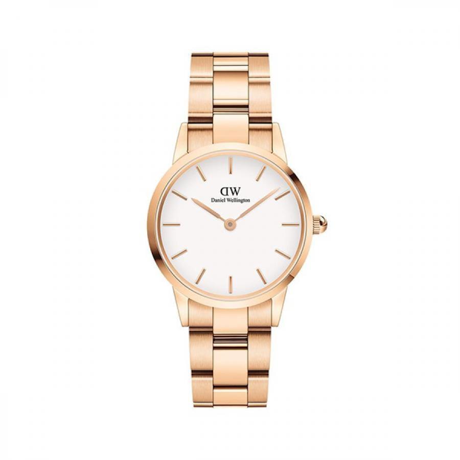 Daniel Wellington ダニエル・ウェリントン ICONIC LINK 28mm Rose Gold White 腕時計 レディース DW00100213